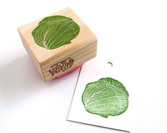Cabbage Stamp, Hand Carved Vegetable Stamp