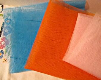 3 pc of Tulle Craft Supplies Sewing Supplies Netting Destash Hat Making Veil Tutu