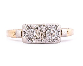 Double Headed Gold Engagement Ring