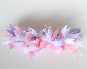 Bountiful Bow 002 - Bow on Headband or Hair Clip - Baby Girl Headband - Toddler Hair Clip - Bow Headband - Hair Clip for Girl