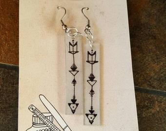 Shrink Art Arrow Earrings