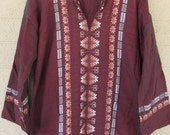 burgundy tapestry tunic