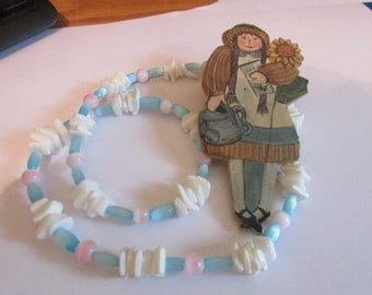 Shell spring necklace& girl