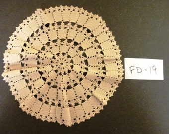 Vintage Crocheted Doily  Stock # FD-19
