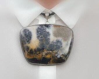 Dendrite Landscape Agate Pendant