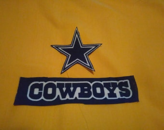 Dallas Cowboys iron on appliques