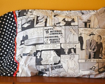 A Graphic Novella Pillowcase (Sewing Day)