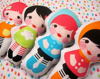 Kokeshi Doll - Kawaii Plushies - Girls Doll