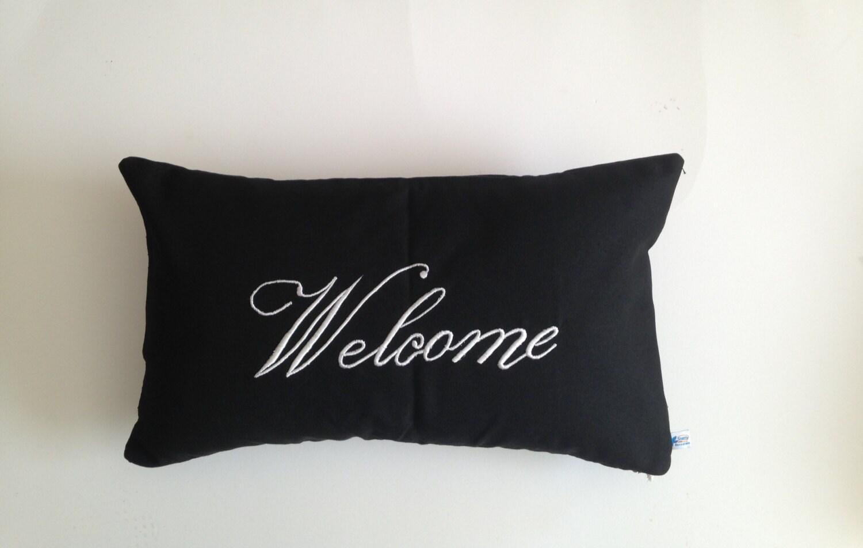 Outdoor Pillows Porch Pillows Welcome Pillows Patio