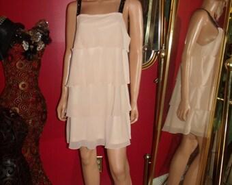 G.Gatsby  Peach Layered Flapper Dress  20's Theme Size n/a