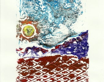 Landscape Collagraph Monoprint