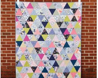 Triangularity Quilt Pattern - Jeni Baker Multiple Sized Quilts Bedspreads Coverlet