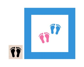 Mini Baby Feet Rubber Stamp