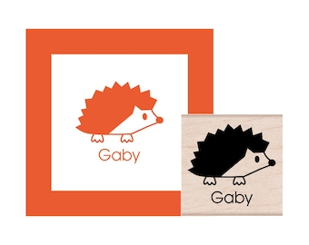 Hedgehog Personalized Rubber Stamp