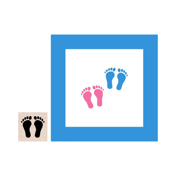 mini baby feet rubber stamp from cupcaketree on etsy studio. Black Bedroom Furniture Sets. Home Design Ideas