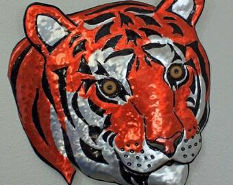 Bengal Tiger - life-sized aluminum wild cat sculpture - OOAK