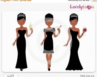 SALE Woman avatar clipart, girl tiara wine digital PNG clip art (Kelly 151)