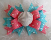 Dog Bows- Coral Sea Shell Boutique Dog Bow