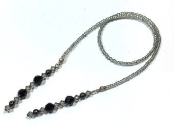 Black and Gray beaded bookmark