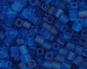 20 Grams Japanese Miyuki Cube Bead - Matte Blue Opaque - 4mm (SB04-149F)