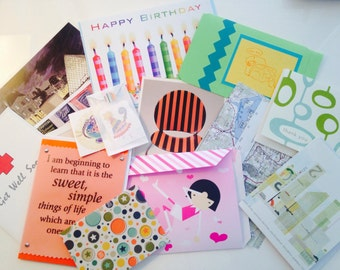 Stationery Grab Bag, Snail Mail, Pen Pals, Paper Goods, Teen, Tween, fun gift, enveloppes, home and living, cute stationery, greeting cards