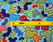Reserved Disney Cartoon Mickey  Print Japanese fabric fat quarter 50 cm by 53 cm or 19.6 by 21 inches
