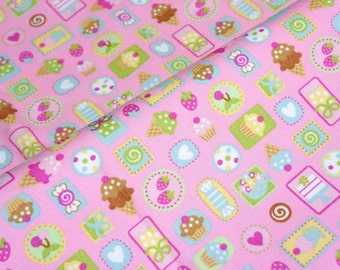 Japanese fabric  sweets half meter  (lb1A)