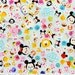 Disney Japan Licensed Disney Character  Disney tsum tsum fabric Print 50 cm by 106 cm or 19.6 by 42 inches