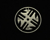 cut coin jewelry - COLOMBIA - 1996 -  Ancient South American Tribal Design