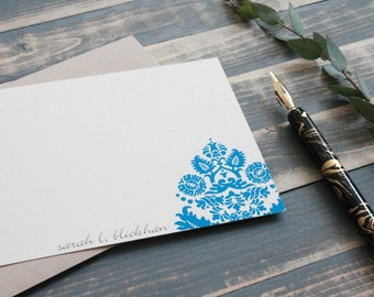 Custom Stationery Set | Personalized Stationary Gift Set in  Modern Brocade
