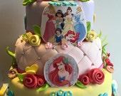 Custom Listing for D 18 Rapunzel Tangled Princess Sun Flower theme cookies