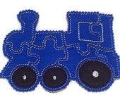 SALE Blue train Felt Puzzle - puzzle game -  Perfect for party favors - school treats -  busy bags or quiet books - quantity discount