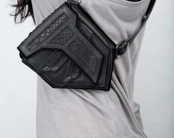 BLACK STEALTH Leather Shoulder Holsters  - Original Size - by Jungle Tribe