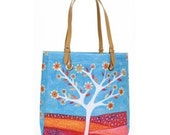 Large Tote, White Tree Tote Bag, Large Tote Bag