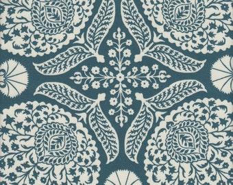SALE - Free Spirit Fabrics Joel Dewberry Flora Bazzar SATEEN in Teal - Half Yard