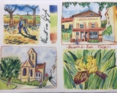 Artist Watercolor Print of Auvers sur Oise by Carol Gillott