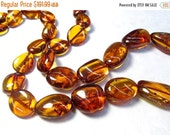 Summer Sale Rare Natural Mandarin Orange Amber Nugget Beads, 28 Inches, Very Rare Hessonite Garnet Orange Color Russian Gemstone, With Neckl