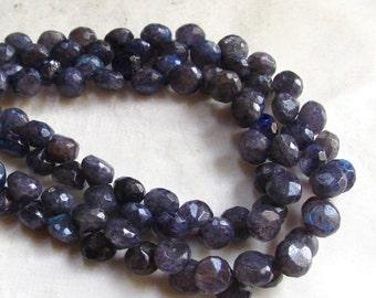 Summer Sale Blue Labradorite Onion Briolette Beads ,7mm  , QTY51, 8 Inches