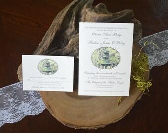 Lafayette Square Fountain Wedding Invitations
