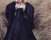 Limited Time Custom Order Available!  Gothic Gwendolyn Medieval or Renaissance Fairy Wedding Gown Velvet and Lace Custom XS-XL