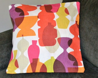 3 Modern, Atomic Ranch style Pillow Covers, handmade