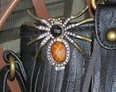 Spider purse key hold keychain key fob bug insect