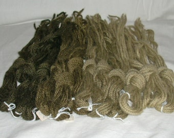 VINTAGE--Paternayan Wool Yarn in Khaki Brown