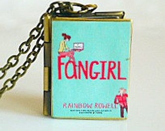 Fangirl, Rainbow Rowell, Young Adult Novel, Fandom, Pop Culture, Tumblr Book Club, Youth Fiction, Book Locket Necklace
