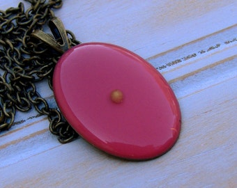 Hot Pink Mustard Seed Necklace - Antique Brass Mustard Seed Necklace - Mustard Seed Jewelry - Mustard Seed Faith - Christian Christmas Gift