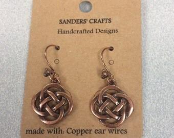 Copper Celtic Knot Earrings