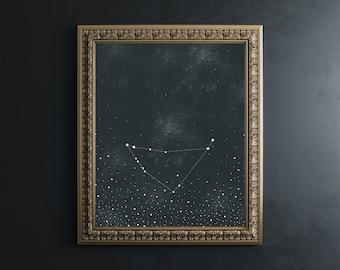 Capricorn Zodiac Constellation Fine Art Print // 8x10 print // stars // zodiac signs // astronomy // wall art // wall decor // zodiac print
