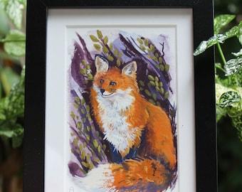 Framed Painting of Fox