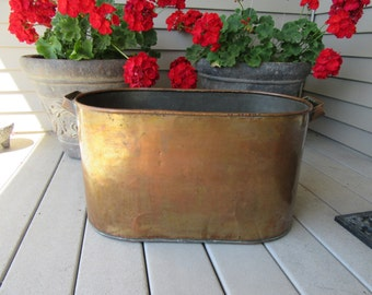 Very nice old copper boiler- has side handles, no lid- solid, beautiful home decor
