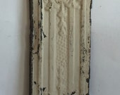 """AUTHENTIC Tin Ceiling Piece Tile Panel Tan 6""""x24"""" Arts and Crafts  RECLAIMED 26111-16i"""
